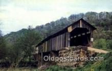 cou100441 - Monroe Co, OH USA Covered Bridge Postcard Post Card Old Vintage Antique