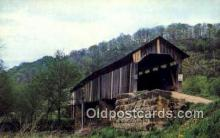cou100442 - Monroe Co, OH USA Covered Bridge Postcard Post Card Old Vintage Antique
