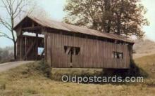 cou100443 - Sycamore Calley, OH USA Covered Bridge Postcard Post Card Old Vintage Antique