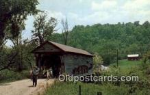 cou100447 - Guernsey Co, OH USA Covered Bridge Postcard Post Card Old Vintage Antique