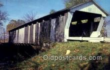 cou100453 - Canal Winchester, OH USA Covered Bridge Postcard Post Card Old Vintage Antique