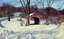 cou100458 - Brief Buckeye, Columbiana Co, OH USA Covered Bridge Postcard Post Card Old Vintage Antique