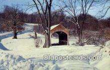 cou100459 - Brief Buckeye, Columbiana Co, OH USA Covered Bridge Postcard Post Card Old Vintage Antique
