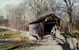 cou100464 - McKaig's, Hanoverton, OH USA Covered Bridge Postcard Post Card Old Vintage Antique