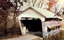 cou100467 - Roley School, Fairfield Co, OH USA Covered Bridge Postcard Post Card Old Vintage Antique