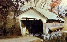 cou100468 - Roley School, Fairfield Co, OH USA Covered Bridge Postcard Post Card Old Vintage Antique