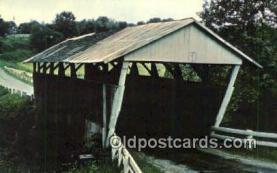 cou100469 - Burton, Lancaster, OH USA Covered Bridge Postcard Post Card Old Vintage Antique