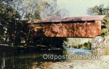cou100470 - Perrintown, Clermont Co, USA Covered Bridge Postcard Post Card Old Vintage Antique