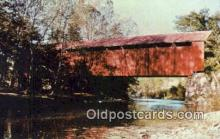 cou100471 - Perrintown, Clermont Co, USA Covered Bridge Postcard Post Card Old Vintage Antique