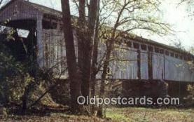 cou100472 - Butler Co, OH USA Covered Bridge Postcard Post Card Old Vintage Antique