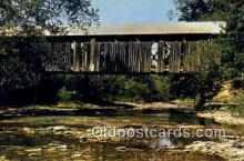 cou100476 - Brown Co, OH USA Covered Bridge Postcard Post Card Old Vintage Antique