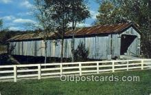 cou100477 - Brown Co, OH USA Covered Bridge Postcard Post Card Old Vintage Antique