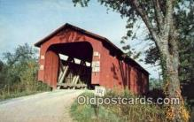 cou100478 - Athens Co, OH USA Covered Bridge Postcard Post Card Old Vintage Antique