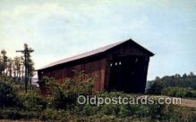 cou100480 - Athens Co, OH USA Covered Bridge Postcard Post Card Old Vintage Antique