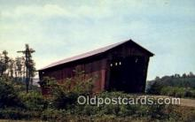 cou100481 - Athens Co, OH USA Covered Bridge Postcard Post Card Old Vintage Antique