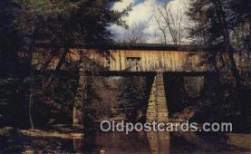 cou100483 - Windsor Mills, Ashtabula Co, OH USA Covered Bridge Postcard Post Card Old Vintage Antique