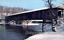 cou100487 - Harpersfield, OH USA Covered Bridge Postcard Post Card Old Vintage Antique