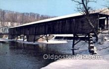 cou100488 - Harpersfield, OH USA Covered Bridge Postcard Post Card Old Vintage Antique