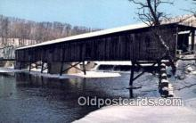 cou100489 - Harpersfield, OH USA Covered Bridge Postcard Post Card Old Vintage Antique