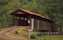 cou100497 - Helmick, Coshocton Co, OH USA Covered Bridge Postcard Post Card Old Vintage Antique