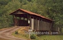cou100498 - Helmick, Coshocton Co, OH USA Covered Bridge Postcard Post Card Old Vintage Antique