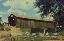 cou100500 - Mull, OH USA Covered Bridge Postcard Post Card Old Vintage Antique