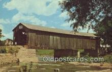 cou100501 - Mull, OH USA Covered Bridge Postcard Post Card Old Vintage Antique