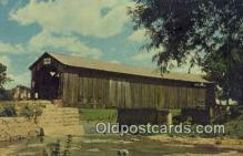 cou100502 - Mull, OH USA Covered Bridge Postcard Post Card Old Vintage Antique