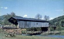 cou100503 - Brush, Scioto Co, OH USA Covered Bridge Postcard Post Card Old Vintage Antique