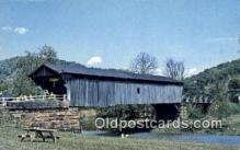 cou100504 - Brush, Scioto Co, OH USA Covered Bridge Postcard Post Card Old Vintage Antique