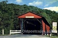 cou100505 - Everett Road, Boston Township, OH USA Covered Bridge Postcard Post Card Old Vintage Antique