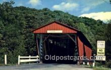 cou100506 - Everett Road, Boston Township, OH USA Covered Bridge Postcard Post Card Old Vintage Antique