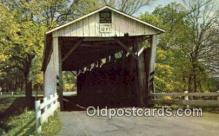 cou100507 - Everett Road, Boston Township, OH USA Covered Bridge Postcard Post Card Old Vintage Antique