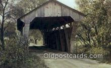 cou100514 - Delaware Co, OH USA Covered Bridge Postcard Post Card Old Vintage Antique
