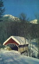 cou100515 - Flume, Franconia Notch, NH USA Covered Bridge Postcard Post Card Old Vintage Antique