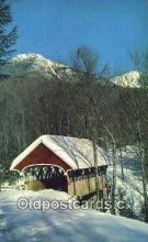 cou100516 - Flume, Franconia Notch, NH USA Covered Bridge Postcard Post Card Old Vintage Antique