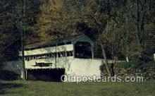 cou100519 - Knox, Valley Forge, PA USA Covered Bridge Postcard Post Card Old Vintage Antique