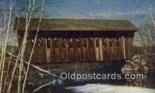 cou100526 - Single Span, Andover, NH USA Covered Bridge Postcard Post Card Old Vintage Antique