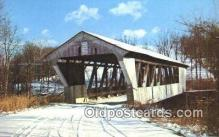 cou100529 - Brubaker, Preble Co, OH USA Covered Bridge Postcard Post Card Old Vintage Antique