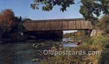 cou100533 - Lowes, Greenville, ME USA Covered Bridge Postcard Post Card Old Vintage Antique