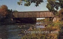 cou100534 - Lowes, Greenville, ME USA Covered Bridge Postcard Post Card Old Vintage Antique