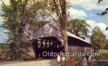 cou100535 - Porter, ME USA Covered Bridge Postcard Post Card Old Vintage Antique