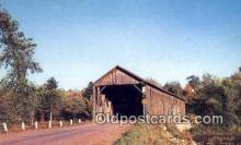 cou100539 - Littleton, ME USA Covered Bridge Postcard Post Card Old Vintage Antique