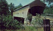 cou100541 - Hemlock, Bridgton, ME USA Covered Bridge Postcard Post Card Old Vintage Antique