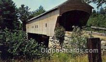 cou100542 - Hemlock, Bridgton, ME USA Covered Bridge Postcard Post Card Old Vintage Antique