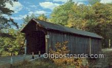 cou100544 - Babbs, ME USA Covered Bridge Postcard Post Card Old Vintage Antique