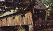 cou100546 - Lovejoy, South Andover, ME USA Covered Bridge Postcard Post Card Old Vintage Antique
