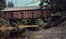 cou100548 - Lovejoy, South Andover, ME USA Covered Bridge Postcard Post Card Old Vintage Antique