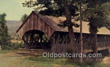 cou100549 - Sunday River, Newry, ME USA Covered Bridge Postcard Post Card Old Vintage Antique