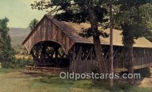 cou100550 - Sunday River, Newry, ME USA Covered Bridge Postcard Post Card Old Vintage Antique